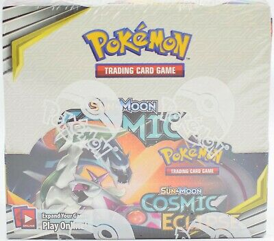 Pokemon Tcg Sun & Moon Cosmic Eclipse Booster Sealed Box - English - Today Only!