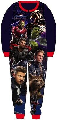 Boys Marvel Avengers All In One Piece Character Childrens Pyjamas Age 5-6
