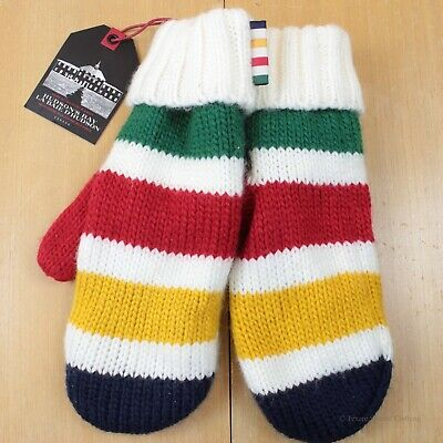 New w Tags HUDSON BAY Lined Mittens Point Blanket Stripes Small/Medium