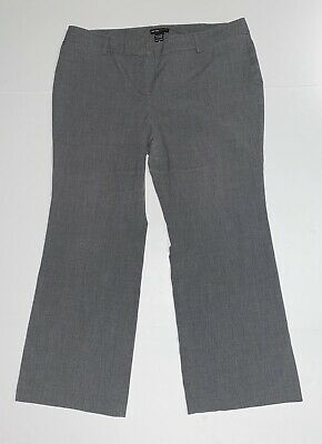 New York & Company Women's Size 16 Petite Stretchy Gray Slacks Dress Pants