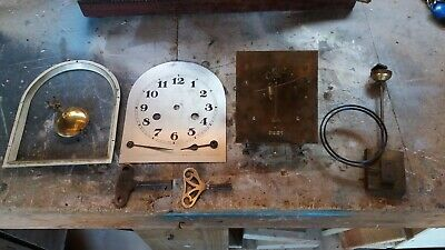 Westminster Chime Clock Movement Working With Key & Parts