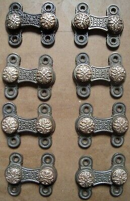 Pair Ornate Cast Iron/Brass Victorian Shutter Latches (2 pair available)