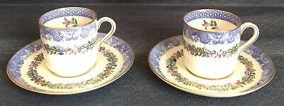 Spode Copelands China ~ 2 Sets ~ ANTIQUE DEMITASSE CUPS and SAUCERS ~ R4779
