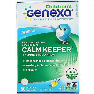 Calm Keeper, Calming & Relaxation, Vanilla Lavender Flavor, Ages 3+, 60 Chewable