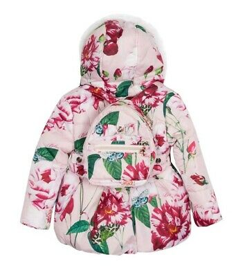 Ted BakerBaby Girls' Pink Floral Coat and Backpack Set. 18-24 Months.