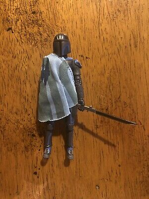 Star Wars Hasbro The Clone Wars Pre Vizsla Mandalorian Loose Complete Dark Saber