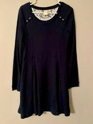 Anthropologie Dress ~ E by Eloise Brand ~ Cozy Waffle Knit ~ Size Large
