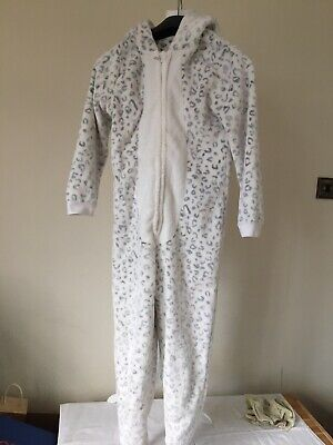 Girls George Fluffy Snow Cat All In One Sleep Suit - Age 10 - 11