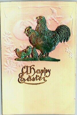 Easter E27 green Easter  chicken,chicks 4single paper decoupage napkins