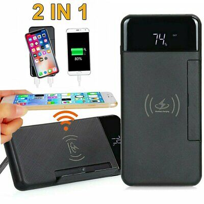 External 900000mah Wireless Power Bank Backup Battery Charger For Mobile Phone