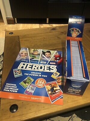 Sainsbury's Heroes Full Box of 180 Packs - Cards - Disney Pixar Star Wars