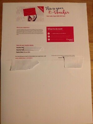 Red Letter Days E Voucher  £250- Exp June 2020 *Relised due to buyer not paying*