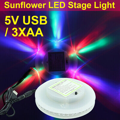 Sound Music RGB LED Stage USB Light Sunflower Disco Xmas Club DJ Party + Remote
