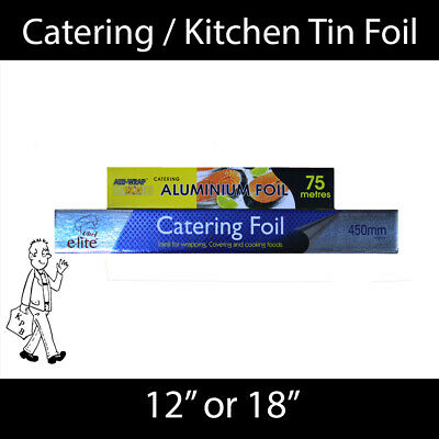 Catering / Kitchen Aluminium Tin Foil 300mm or 450mm wide - 75m long!!