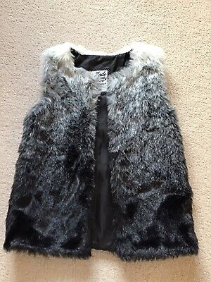 girls faux fur gillet F&F Age 8-9Years
