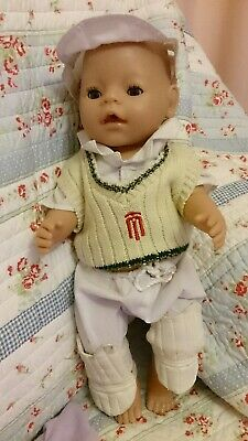 12pc Zapf BABY Born BOY Doll ANATOMICALLY Correct CLOTHES Cricket Accessorie LOT