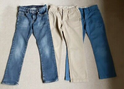 Boys Jeans/Trousers Bundle: age 7 years - 3 pairs *Gap*