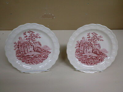 """Vintage Taylor Smith Taylor TST English Abbey Red Transfer 6 1/4""""  B/B PLATE"""