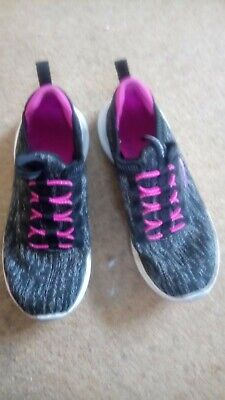 Girls pink and grey sketchers trainers size 12.5