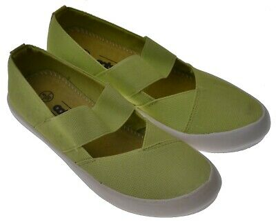 Ladies Casual Slip On Shoes Cotswold Chedworth Plain Lime Green EU Size 39