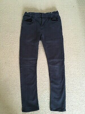 Boys Black Jeans Trousers From H&M Size 11-12 Years Cotton Elastane
