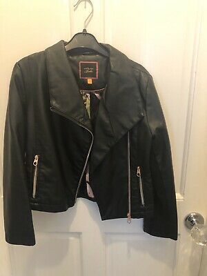 Girls Ted baker Leather Look Jacket 9-10 Yrs Excellent Cond
