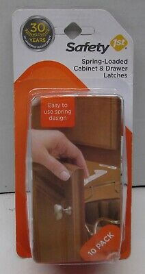 Safety 1st Spring-Loaded Cabinet & Drawer Latches - 10 Pack - #48392