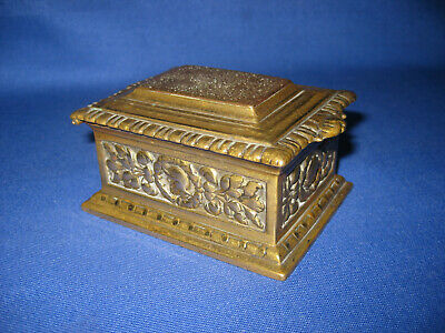 Antique Victorian Desktop Heavy Solid Cast Brass Match Holder or Paperweight :]