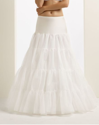 Bianco Evento Hooped Bridal Underskirt,Cream/Ivory,Double Layer, Brand New, Med.