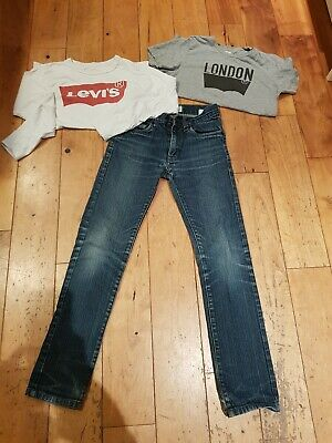 Levi's Bundle Age 10-12  510 super skinny Jeans And 2 Tops