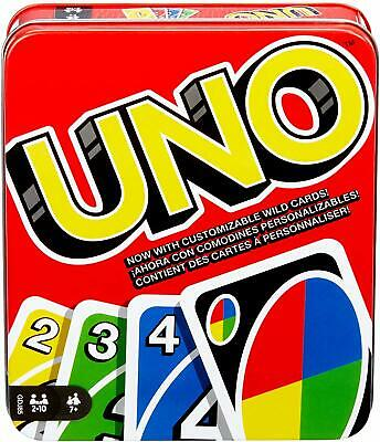 Mattel Uno Card Game New Sealed Edition Flip Tin Classic Box Kids Adults Alike