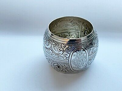Fabulous Mappin & Webb Victorian solid sterling silver napkin ring London 1893