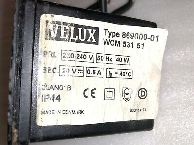 Alimentatore  VELUX WCM 531 Switch Box Tipo 869000-01