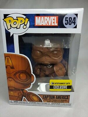 Captain America Wood Deco Pop Figure Bobblehead Entertainment Earth Exclusive