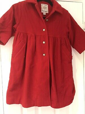 Girls Vintage NEXT Age 3-4 Red Coat. Gold Button Detail. Worn Once