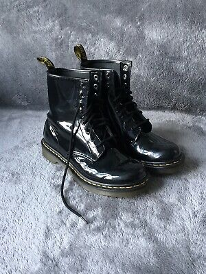 Dr Martens 1460W Black Gloss Leather Size UK 6 Unisex
