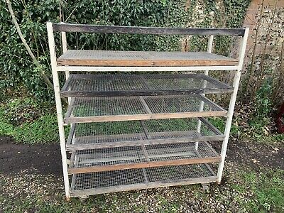 Bakers Trolley - Vintage Industrial trolley with 7 shelves, on castors.