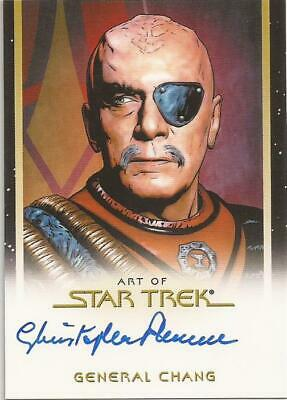 Christopher Plummer as General Chang Movies Autograph Card Star Trek Inflexions