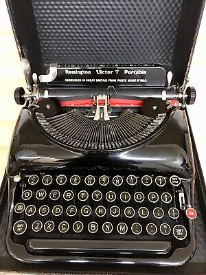 Lovely 1930s Remington Typewriter Victor T, Working Great & Case