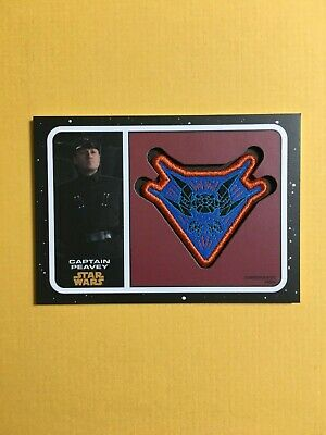 Topps Star Wars Journey to Rise of Skywalker Patch TIE Peavey PC-CPT White