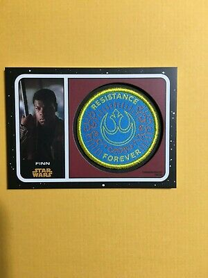 Topps Star Wars Journey to Rise of Skywalker Patch Resistance Finn PC-FCR White