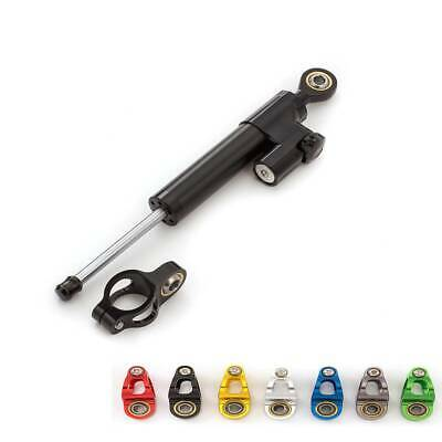 CNC Black Universal Motorcycle Steering Damper Stabilizer Linear Control Safety