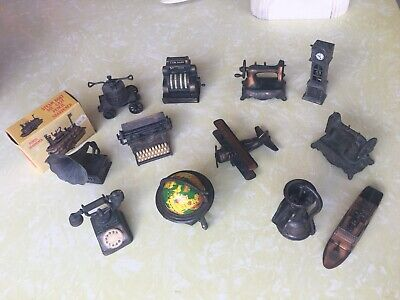 Vintage Collecticle Minature Cast Iron Pencil Sharpeners X 12