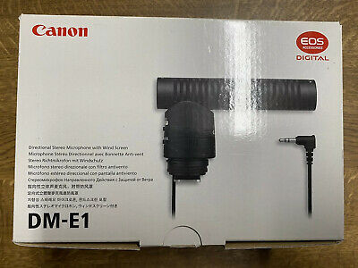 Canon DM-E1 Stereo Directional Microphone Brand New Boxed