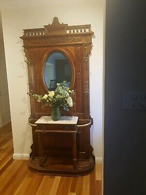 Beautiful antique hall stand .