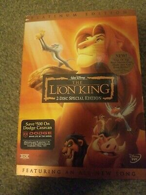 The Lion King (DVD, 2003, 2-Disc Set, Platinum Edition Features an All-New Song)