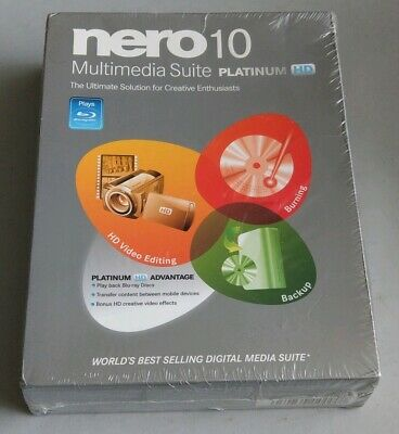 Nero 10 Multimedia Suite Platinum HD for Windows XP,  Vista, 7