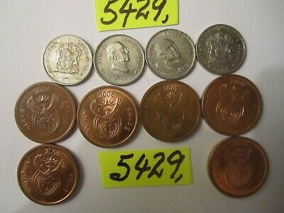 10  x 5 cent coins    SOUTH AFRICA      14   gms      Mar5429
