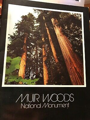 1971 Muir Woods Booklet and Map Vintage California In Full Color
