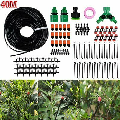 40m DIY Drip Irrigation System Plant Auto Timer Self-Watering Garden Hose Kits